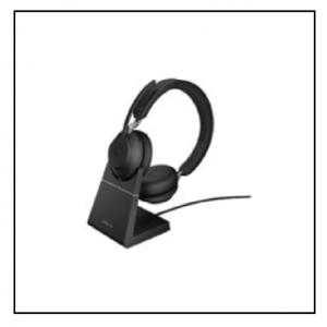 Jabra Evolve2 65, Link380c MS Stereo Stand Black
